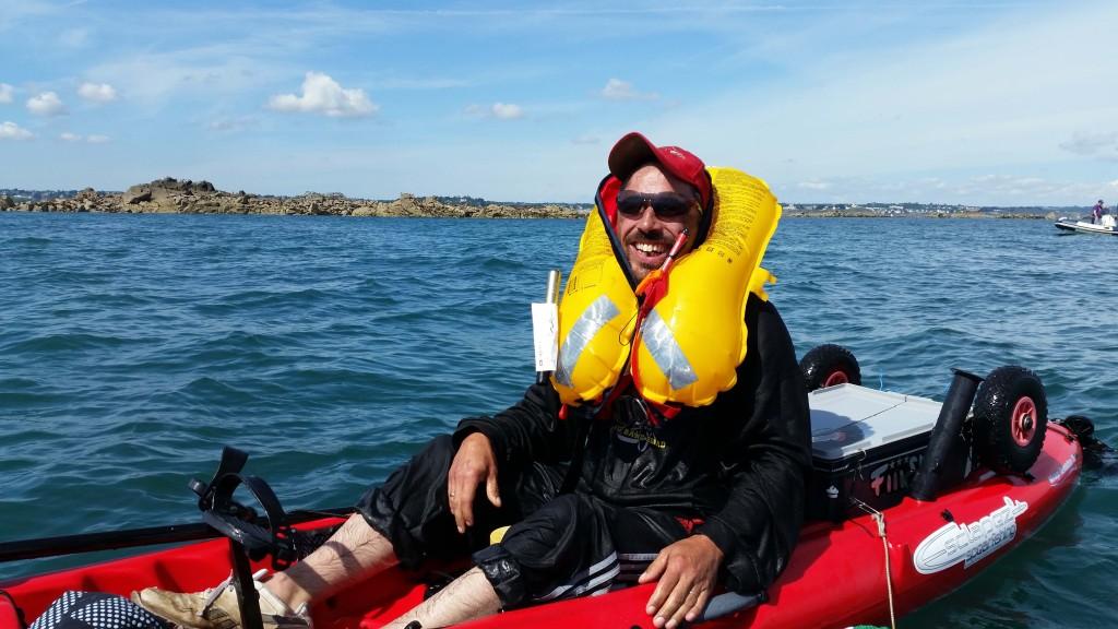 Le gilet s'est déclenché dès que ce kayakiste a dessalé