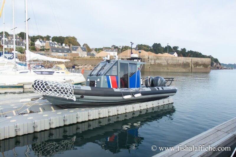 Le bateau des Affaires maritimes