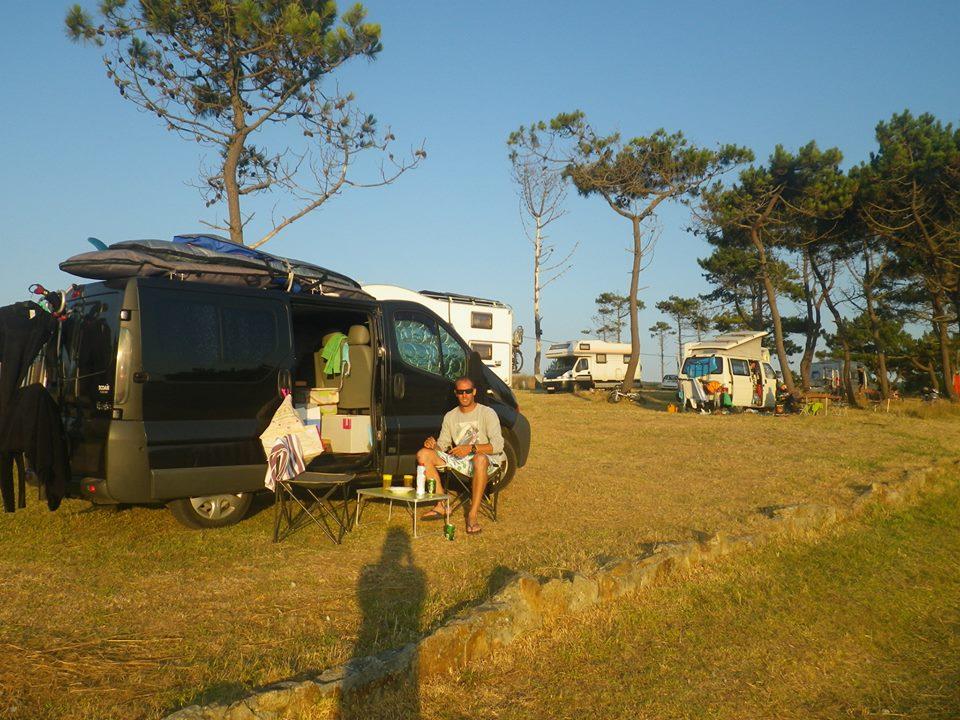 le seul arrêt au camping durant notre périple de trois semaines en Galice