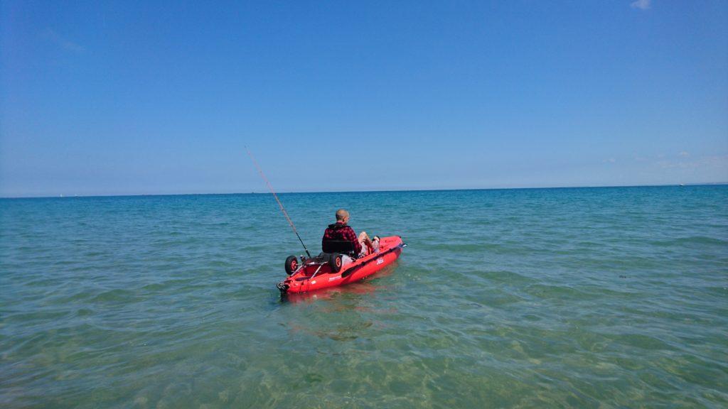 Nicolas, s'en va avec le kayak ;)
