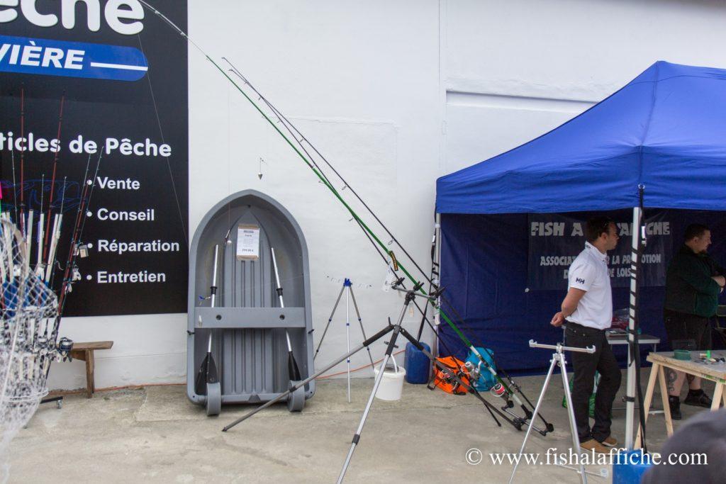 Le matériel prêté par Ac'Sion Pêche